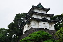 A watchtower of Tokyo Imperial Palace, Japan Royalty Free Stock Photos