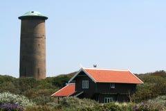 Watertower w diunach Zdjęcia Royalty Free