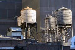 Watertowers in New York royalty-vrije stock foto