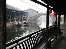 Watertown antique de Shaoxing Photographie stock libre de droits