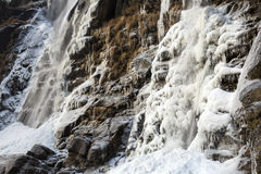 Waterval Acquafraggia ook Acqua Fraggia in provincie van Sondrio in Lombardije, Noord-Italië Stock Afbeelding