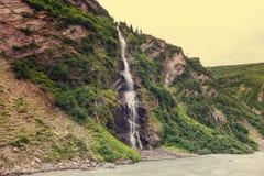 Waterval in Alaska Stock Foto
