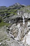 Waterval in Beierse Alpen Stock Foto