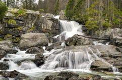 Waterval in bergen Stock Fotografie