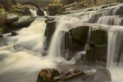 Waterval bij Drie Graafschappenhoofd royalty-vrije stock foto