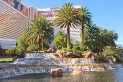 Waterval bij het Luchtspiegelinghotel in Las Vegas, Stock Fotografie