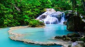 Waterval bij het Nationale Park van Erawan Royalty-vrije Stock Afbeeldingen