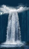 Waterval bij nacht Royalty-vrije Stock Foto's