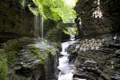 Waterval bij Nauwe vallei Watkins Royalty-vrije Stock Afbeelding