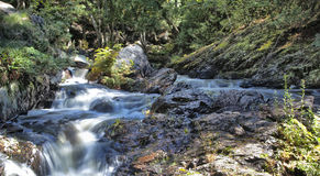 Waterval bij Park Hiawatha Stock Afbeeldingen