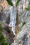 Waterval Boka in Slovenië stock foto