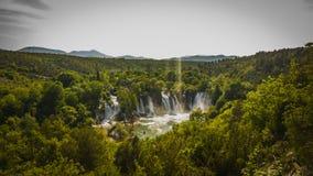 Waterval in Bosnië - Herzegovina stock foto