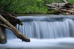Waterval buiten Nationaal Park Yellowstone Stock Foto's