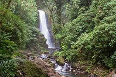 Waterval in Costa Rica Royalty-vrije Stock Afbeelding