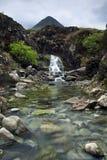 Waterval, Cuillin-Bergen, Eiland van Skye, Schotland Stock Foto's