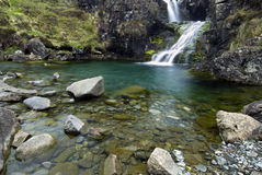Waterval, Cuillin-Bergen, Eiland van Skye, Schotland Royalty-vrije Stock Foto