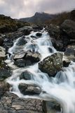 Waterval in Cwm Idwal Wales royalty-vrije stock foto's