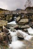 Waterval in Cwm Idwal Wales royalty-vrije stock fotografie