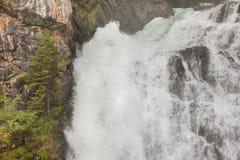 Waterval in de bos, Italiaanse Alpen Royalty-vrije Stock Fotografie