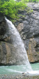 Waterval in de canion Aare Stock Foto's