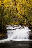 Waterval - de Dalingen van de Molenkreek - Kumbrabow-het Bos van de Staat, West-Virginia royalty-vrije stock fotografie