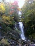 Waterval in de herfst Royalty-vrije Stock Foto's