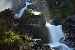 Waterval in de Kaukasus Royalty-vrije Stock Foto's