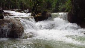 Waterval in de wildernis stock videobeelden