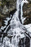 Waterval in de winter Stock Foto's