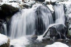 Waterval in de winter in Triberg Royalty-vrije Stock Foto