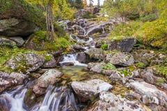 Waterval dichtbij Morskie-oko Royalty-vrije Stock Foto