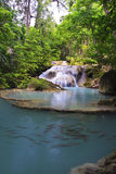 Waterval in diep bos Royalty-vrije Stock Foto