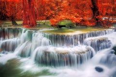 Waterval in diep bos bij huay maeka min Royalty-vrije Stock Fotografie