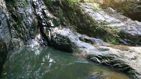 Waterval in diep bos op Koh Samui thailand stock footage