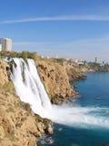 Waterval Duden in Antalya Royalty-vrije Stock Foto's