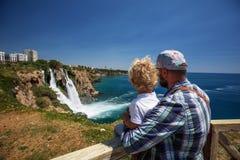Waterval Duden in Antalya, Turkije Royalty-vrije Stock Foto's