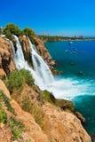 Waterval Duden in Antalya, Turkije Royalty-vrije Stock Afbeelding