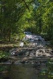 Waterval in een Hongaars bos Stock Foto