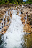 Waterval en stenen Stock Foto