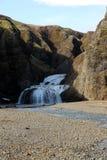 Waterval (Foss) in IJsland Stock Afbeelding