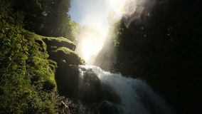 Waterval Giessbach, Bernese Oberland, Zwitserland stock video
