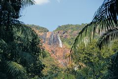 Waterval in Goa Stock Afbeeldingen