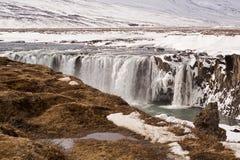 Waterval Godafoss, IJsland Royalty-vrije Stock Foto