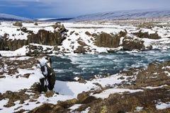 Waterval Godafoss, IJsland Stock Afbeelding