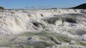 Waterval Gullfoss in IJsland stock video