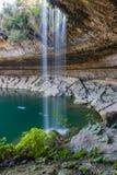 Waterval in Hamilton Pool Royalty-vrije Stock Foto's