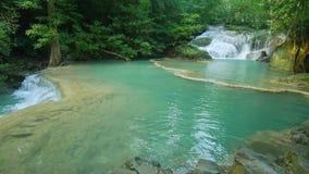 Waterval in het bos stock footage