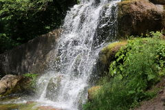 Waterval in het nationale dendrological park stock afbeeldingen