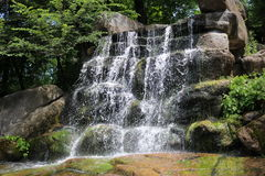 Waterval in het nationale dendrological park royalty-vrije stock foto