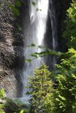 Waterval in het Nationale Park van Ecrins, Frankrijk royalty-vrije stock fotografie